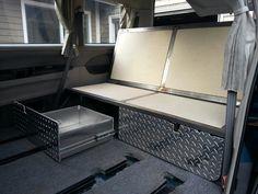 Rock n'roll bed Mitsubishi delica l400 camper conversion