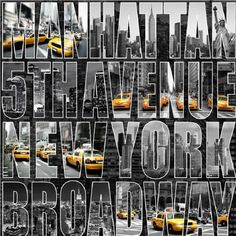 Muriva Letters From New York Street Scene Typography Wallpaper 102524