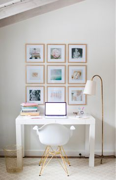 This great DIY decor idea is brought to you by Erin Lepperd from Style Me Pretty Living and will add a personal touch to your space. diy home decor,diy,diy crafts,diy room decor,diy headboard Home Office Decor, Diy Home Decor, Office Ideas, Office Inspo, Office Decorations, Diy Decoration, Office Art, Cozy Office, Desk Inspo