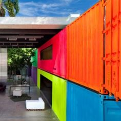 Inventive Use of Painted Shipping Containers