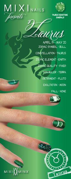 Zodiac Nails: Taurus by Mixi Minx