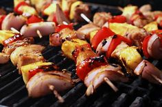 The Cooking Photographer: Pork, Pineapple & Sweet Pepper Kabobs