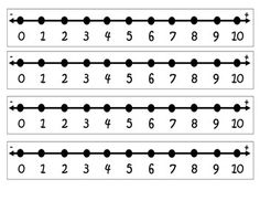 Number Lines Number Lines for Classroom or Home use. The Number Lines vary from Number Line Subtraction, Printable Number Line, Free Printable Numbers, Subtraction Kindergarten, Kindergarten Math Activities, Student Numbers, Math Numbers, Open Number Line, School