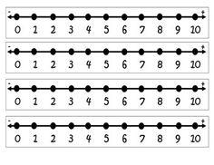 Number Lines Number Lines for Classroom or Home use. The Number Lines vary from Number Line Activities, Number Worksheets Kindergarten, Subtraction Kindergarten, Numbers Preschool, Math Literacy, Math Numbers, Teaching Math, Free Worksheets, Numeracy