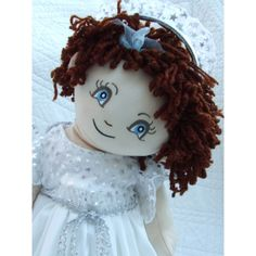 "Cuddly 18"" Rag Doll In Angel Dress With Wings Angel Dress, Build A Bear, Rag Dolls, Stuffed Animals, Wings, Hair Color, Teddy Bear, Costumes, Disney Princess"