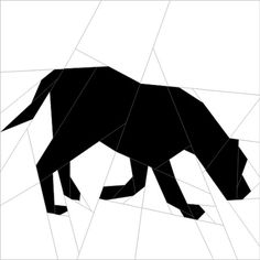 Silhouette Dog #5 Paper Piecing Pattern quiltartdesigns.blogspot.com