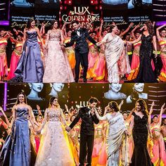 LEGENDS !! ❤️❤️Deepika , SRK , SrideviKapoor , Madhuri Dixit ,Sharmila Tagore ji, all in one frame. #Throwback to Lux golden rose awards. . #bollywood #hollywood #deepika #deepikapadukone  #shahrukh #shahrukhkhan #srk #madhuridixit