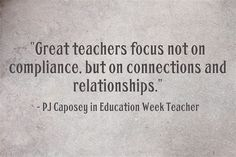 Great Teachers Focus On Connections & Relationships is my latest post over at Education Week Teacher. Eric Jensen, Jason Flom, and PJ Caposey share their suggestions for five best practices tha… Teaching Quotes, Teaching Tips, Education Quotes, Art Education, Connected Learning, Classroom Quotes, Classroom Ideas, Teacher Inspiration, Teacher Memes