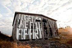 Street art by norwegian artist Pøbel. Street Art Love, Best Street Art, Street Art Quotes, Urban Painting, 4th Street, Abandoned Buildings, City Art, Street Artists, Urban Art