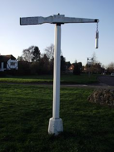 The last remaining Quintaine in the UK is in Offham, Kent. This was used by Knights to practice jousting. England Ireland, England And Scotland, Rule Britannia, Gallows, Richard Iii, Tudor Style, European History, English Countryside, London Calling