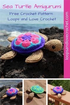 These sea turtles are so fun to make in all color combinations! Free crochet pattern by Loops and Love Crochet. Love Crochet, Crochet Gifts, Crochet Yarn, Crochet Toys, Crochet Animal Amigurumi, Crochet Animals, Amigurumi Patterns, Stuffed Animal Patterns, Stuffed Animals