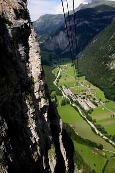 Gimmelwald to Stechelberg by Cable Car, Switzerland