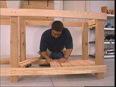DIYNetwork.com shows you how to make a custom potting bench.
