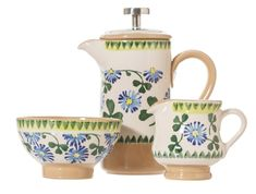 Patrick's Day with our lucky Clover gift set perfect for small sips of Irish coffee. The set includes our small cafetiere, a tiny bowl and tiny jug in our Clover pattern which we introduced to Nicholas Mosse Pottery in Irish Coffee, Dinnerware, Pottery, Table Settings, Gifts, Fairy, Kitchen, Dinner Ware, Ceramics