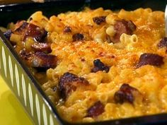 Mac and Cheese Dog Casserole    Rachael Ray Got to try this. I love hot dogs with mac and cheese!