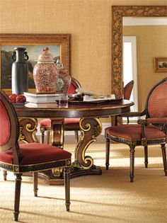 Arabesque Round Dining Table Fine Dining Arabesque Table And Chairs Dining Room