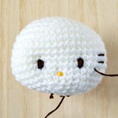 Exclusive Hello Kitty Crochet Tip#2: It's in the eyes, nose and whiskers