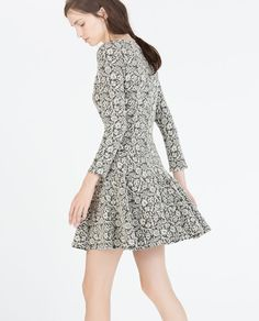 ZARA - WOMAN - JACQUARD FLARED DRESS