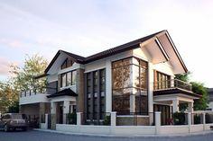 Explore photos on Photobucket. House Front Design, Small House Design, Modern House Design, Modern Zen House, Modern House Plans, Philippines House Design, Philippine Houses, Dream House Exterior, Facade House