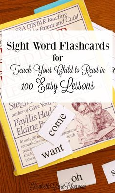 Free printable sight word flashcards to coordinate with Teach Your Child to Read in 100 Easy Lessons. Perfect for homeschooling kindergarten. Flashcards have lesson number on back!