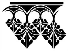 Border No 5 stencil from The Stencil Library GOTHIC, MEDIEVAL AND TUDOR range. Buy stencils online. Stencil code GMT5.