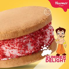 Go back to being a kid once again with our red velvety Yo Yo Ice cream from the range  #SummerDelight with Chotta Bheem.