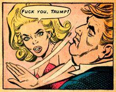"Comic Girls Say..""fuck you trump!""  #comic"