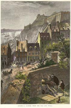 Ville de Québec 1882-1884 Old Quebec, Quebec City, Chute Montmorency, Chateau Frontenac, Le Petit Champlain, France 2, Canadian History, O Canada, France Travel