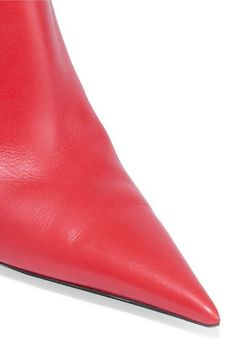 Balenciaga - Leather Boots - Red - IT36.5