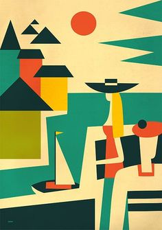 illustration / martini by iv orlov, via Behance