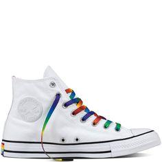 b2a31112d680 Converse Chuck Taylor ALL-STAR High Rainbow Pride LGBT Shoes Men 10.5 Women  12.5