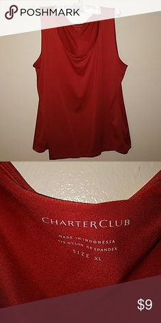Beautiful tank by Charter Club Burnt orange/reddish tank worn once. Bought from Macy's. In excellent condition and ready for summer weather! Charter Club Tops Tank Tops