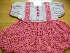 Crochet Baby Dress Crochet Baby Dress, Pink Baby Dress, Handmade