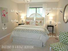 romantic bedroom ideas on a budget   master bedroom $400 budget ...