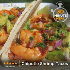 "Chipotle Shrimp Tacos | ""These are perfect!! I've made them a few times now with no changes and they come out great every time! Thank you so much for sharing!!!"""