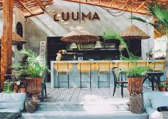 Home Decoration Ideas Images Outdoor Restaurant, Cafe Restaurant, Restaurant Design, Brewery Design, Cafe Design, Surf House, Beach Cafe, Coffee Shop Design, Pool Bar
