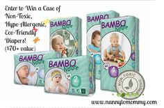 Bambo Nature Diapers #Giveaway - Enter to #win a case of your very won! ($70+ value!) #hypoallergenic #nontoxic #ecofriendly #babytravels