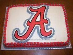 Homemade Alabama Crimson Tide Cake I want this cake for my husband birthday!