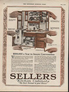 Sellers Kitchen Cabinets Vintage rare antique advertising hoosier kitchen cabinets catalog/price
