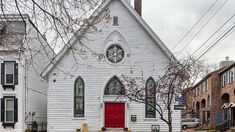 Look inside this home that was once a chapel. I would LOVE having all the stained glass.