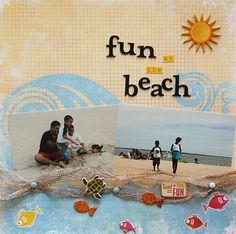 fun in the beach - Scrapbook.com