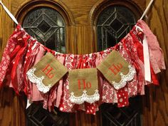 A personal favorite from my Etsy shop https://www.etsy.com/listing/254755830/ho-ho-ho-christmas-burlap-banner-with