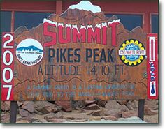 Drove up Pikes Peak. Colorado :)