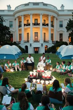 Pin for Later: These Girl Scouts Had the Most Epic Sleepover at the White House