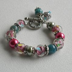 Summer Handmade Beaded Bracelet by bdzzledbeadedjewelry on Etsy, $34.00