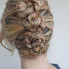 Hair Romance - 30 braids 30 days - 13 - the French twist & pin braids