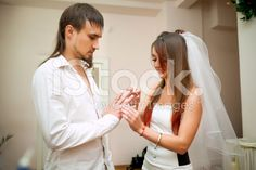 Bride wears the ring