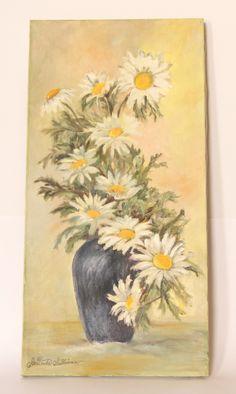 Vintage Oil Painting Flowers by Gertrude Sullivan