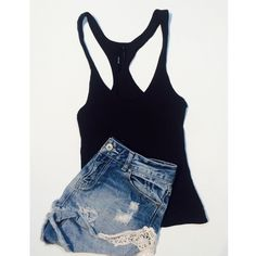 Nasty gal basic tank Basic black tank top. Everyone should have one to wear with high waisted shorts or high waisted jeans Nasty Gal Tops Tank Tops