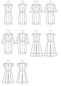 Line Art for Vogue 9167